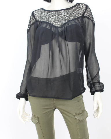 ESTELLE Sheer Blouse