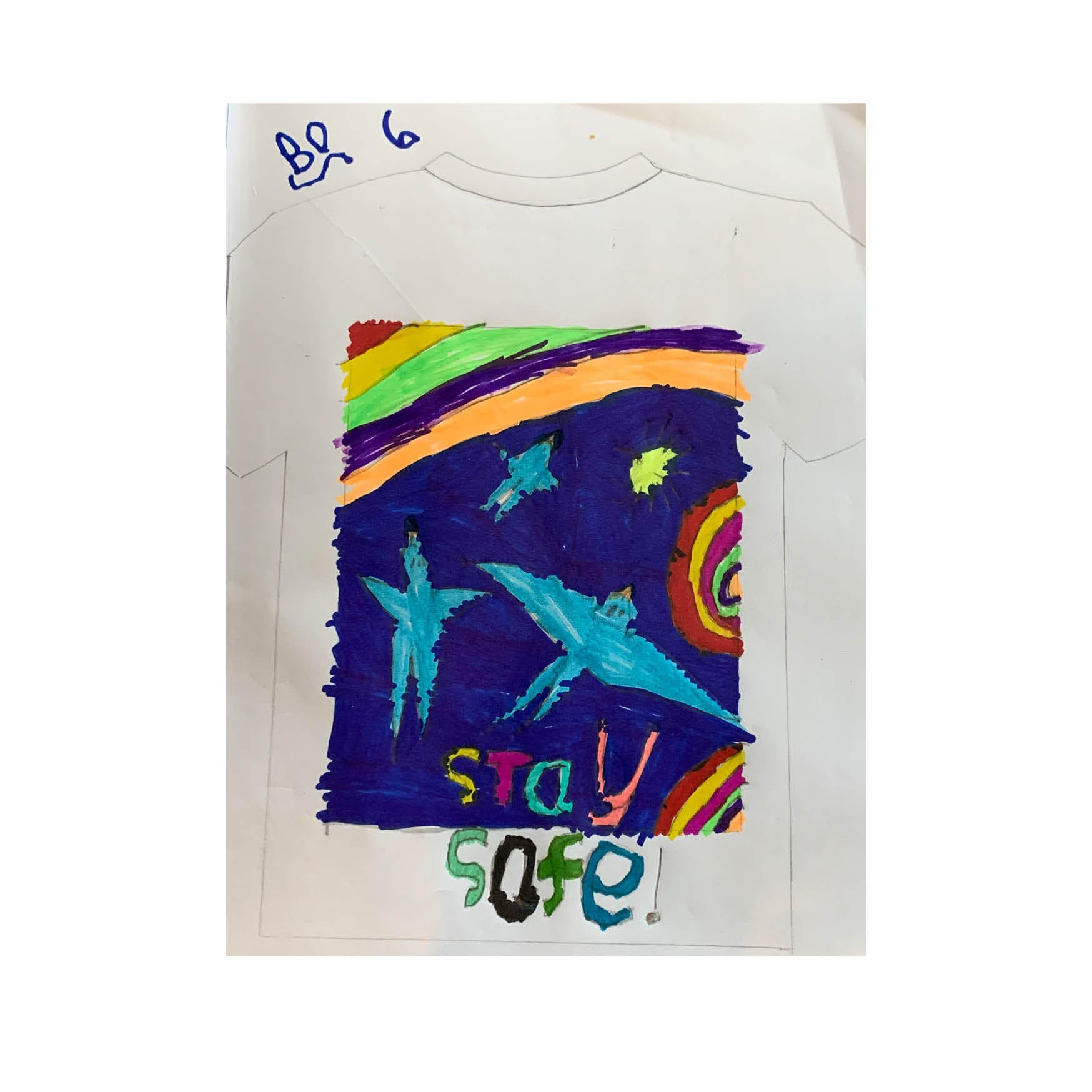Bo Reef aged 6  - #FinisterreForNHS t-shirt design competition [Kids category]