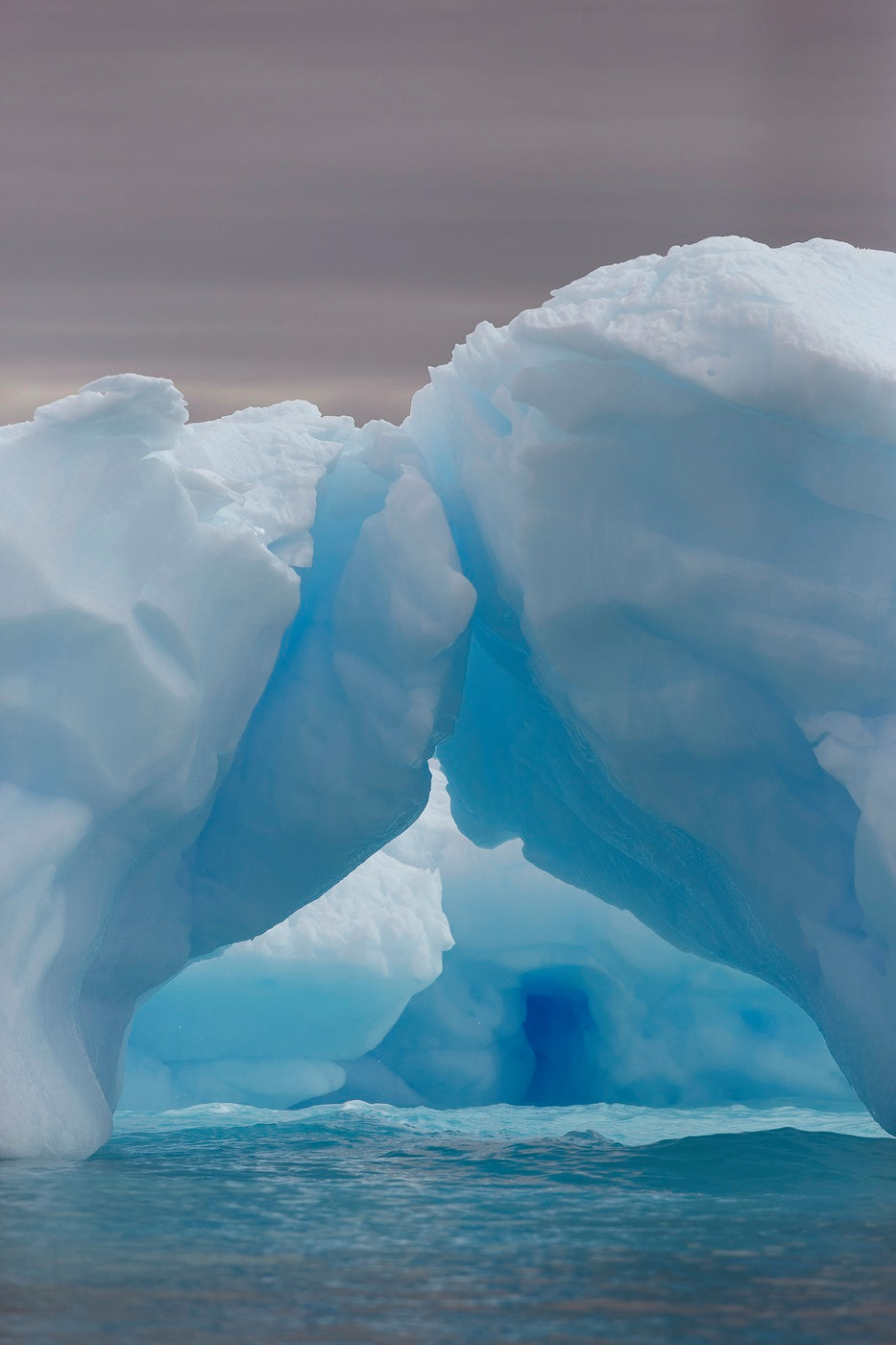 A natural ice arch formed by the power of the sun