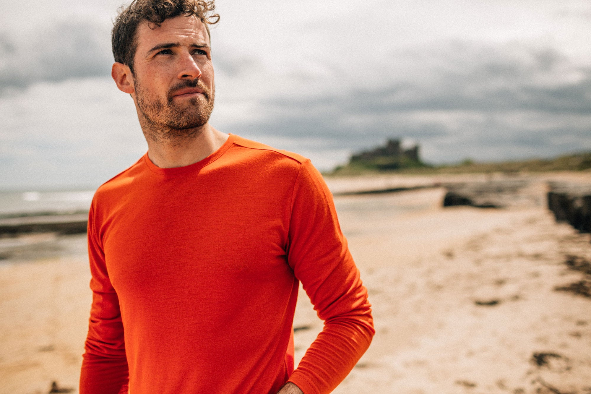 Mens Eddy Merino Base Layer in Flame