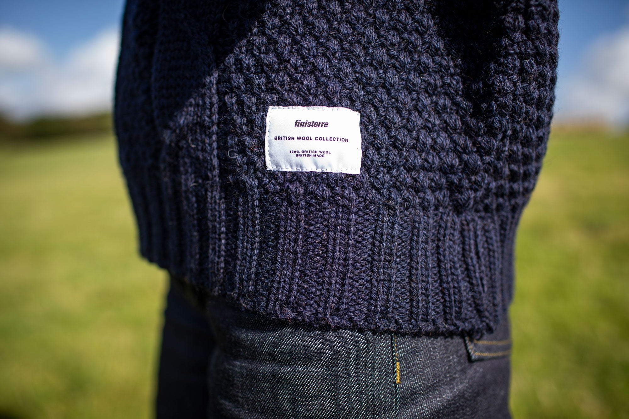 British Wool Collection Jumper Finisterre Grown spun and knitted in Britain