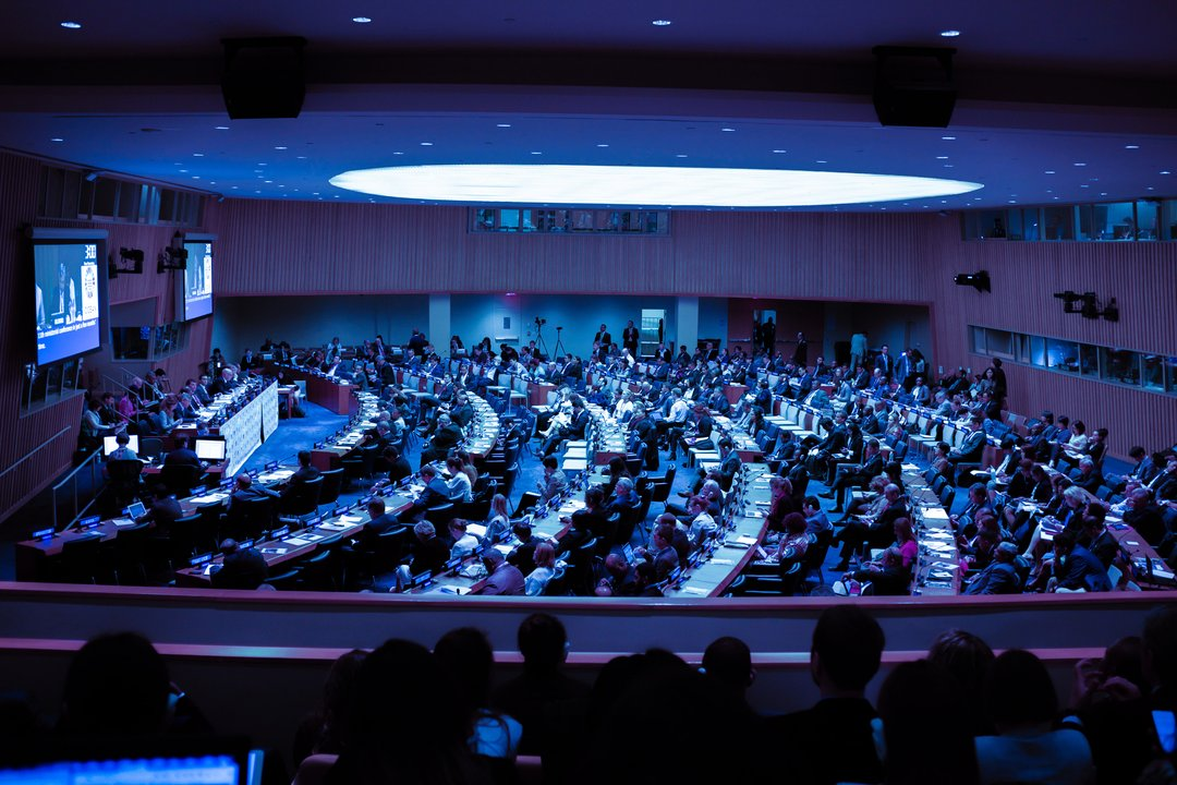 International Conference of people discussing climate change