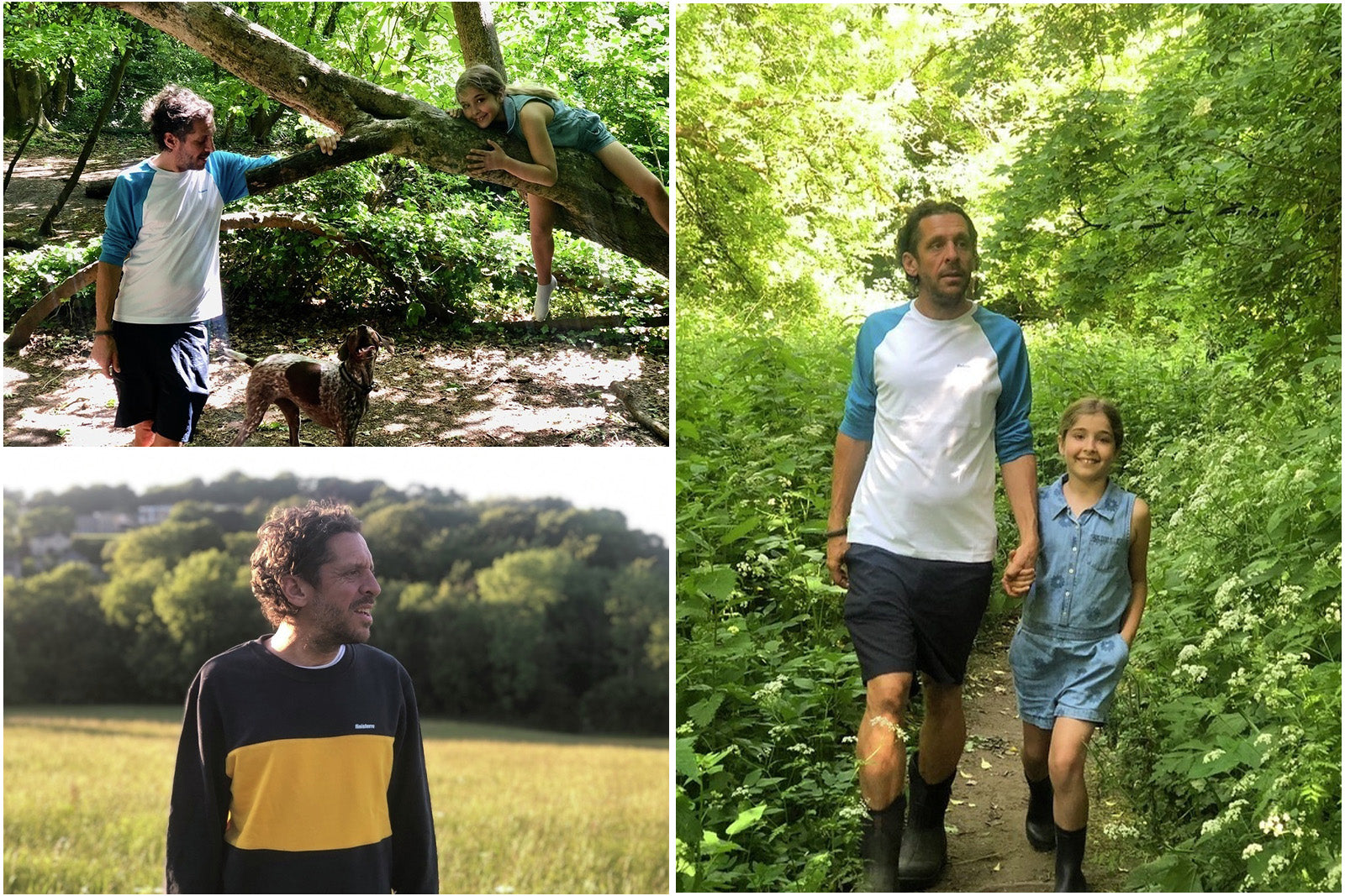Dan Burgess spending walking with his daughter in the woods behind his home