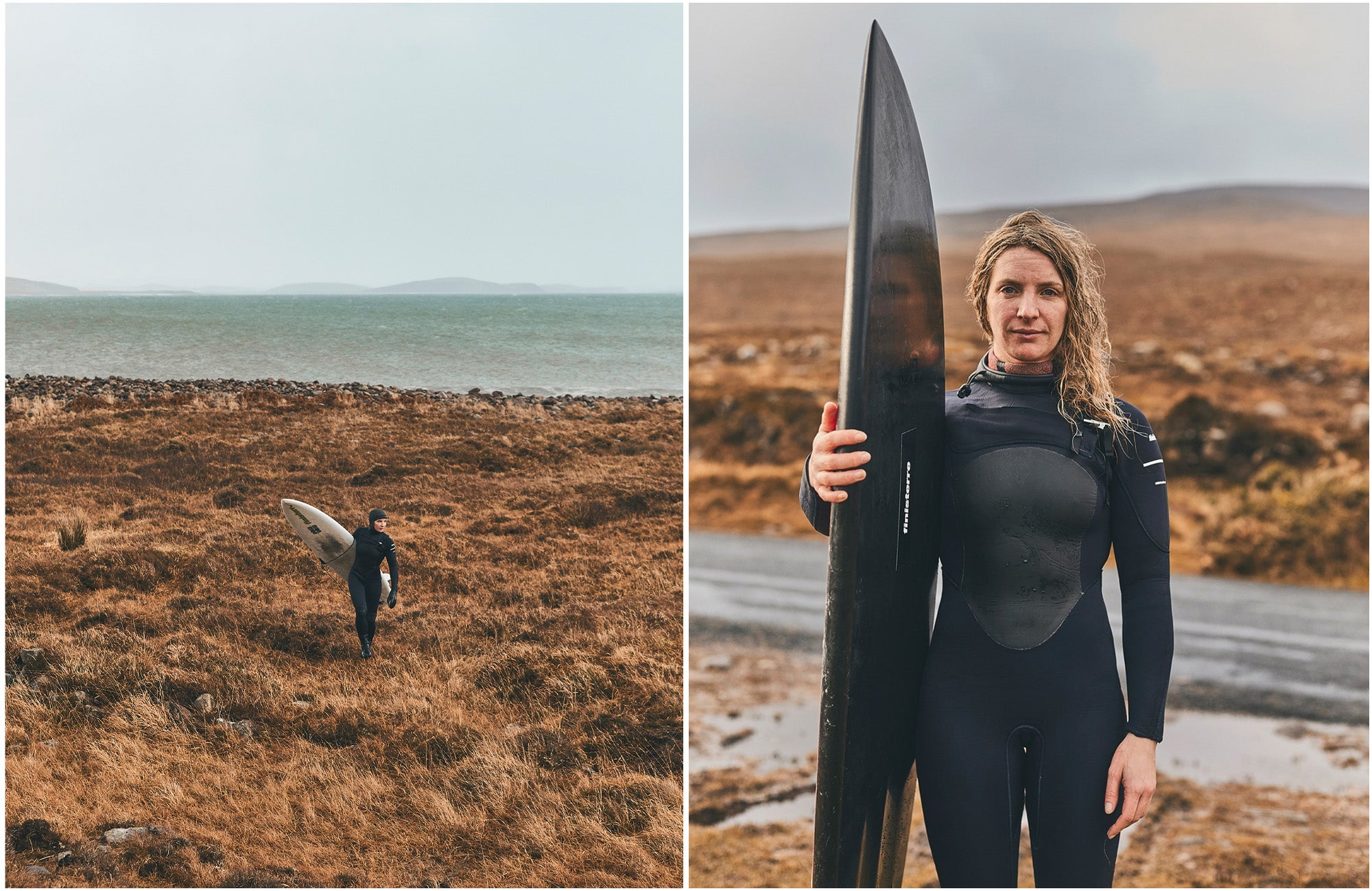 Easkey returning from a winter surf somewhere in Ireland