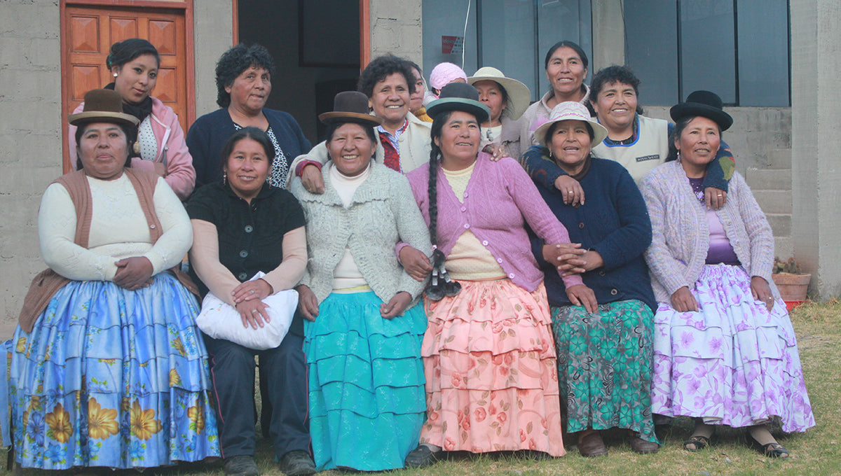 Women employed as traditional knitters from RK Peru