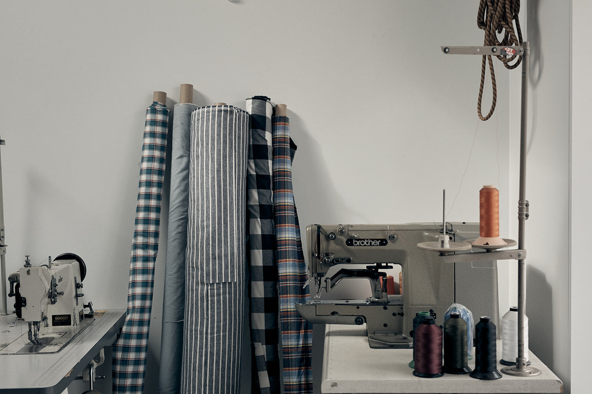 Over 500 meters of fabric donated by Finisterre to the Cornwall Scrubs Project