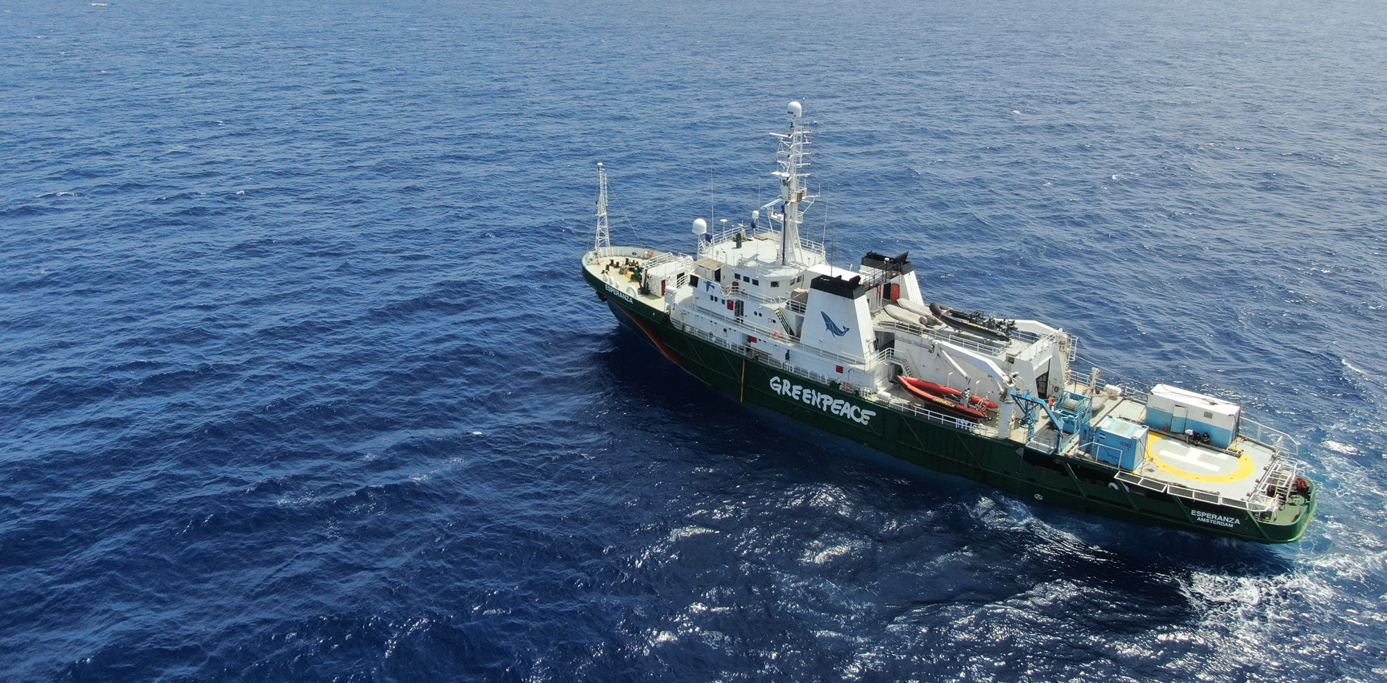 Jade Sellick - Greenpeace ship MY Esperanza captured from a drone
