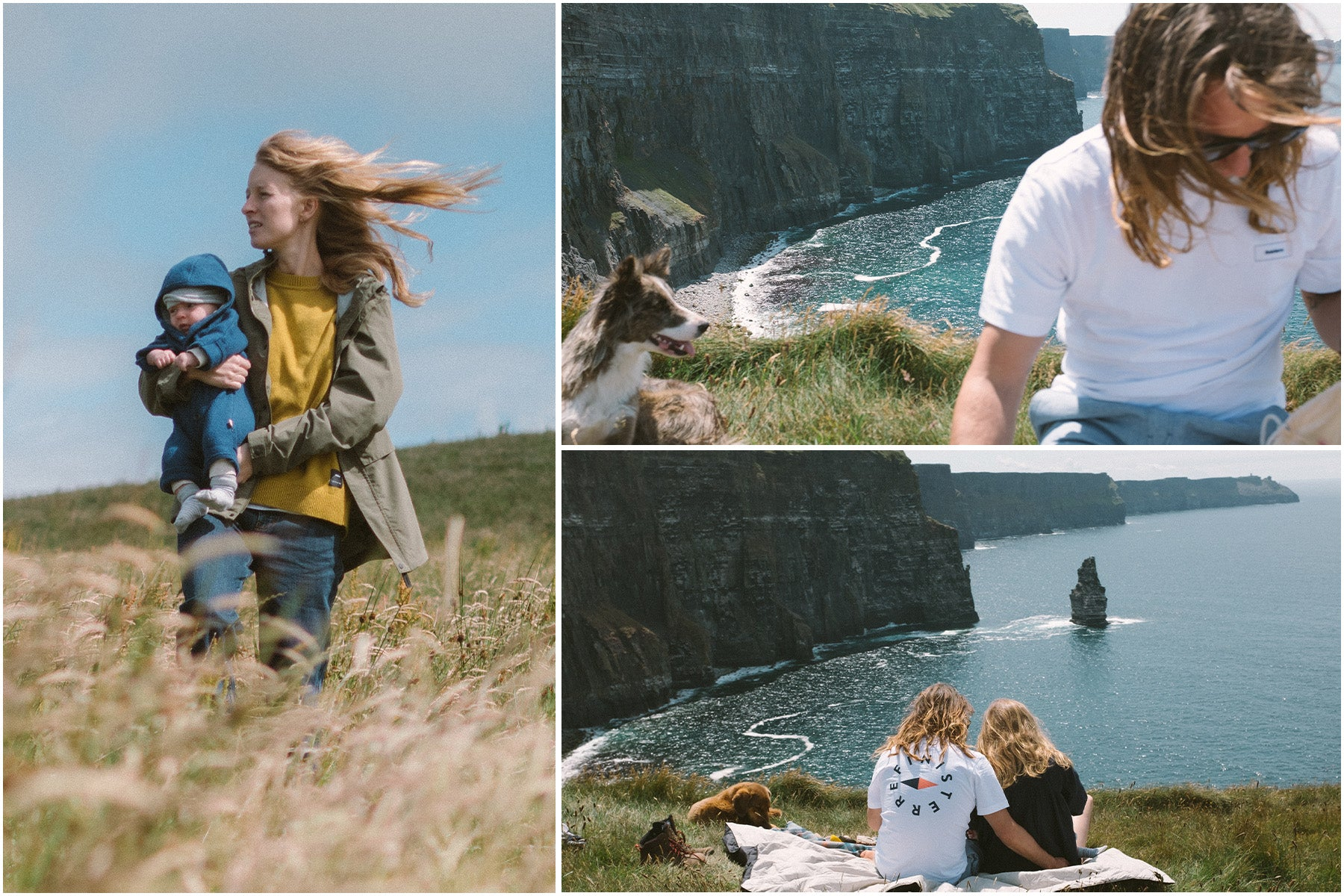 Matt Smith Cliff-top Picnic with Family Split-Image