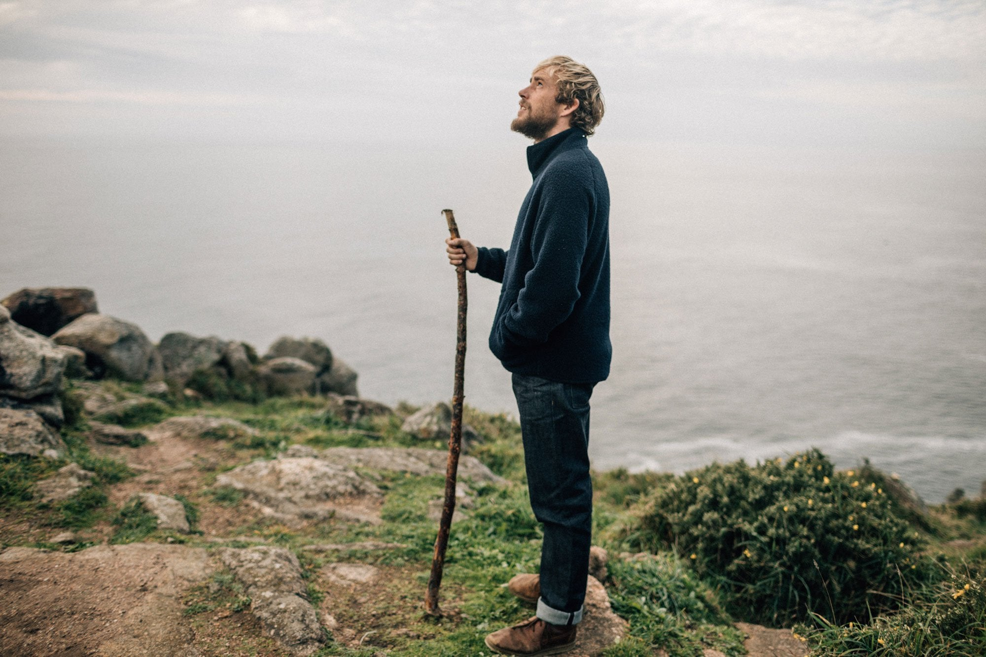 Mike-Lay-with-his-favourite-walking-stick-at-Cape-Finisterre
