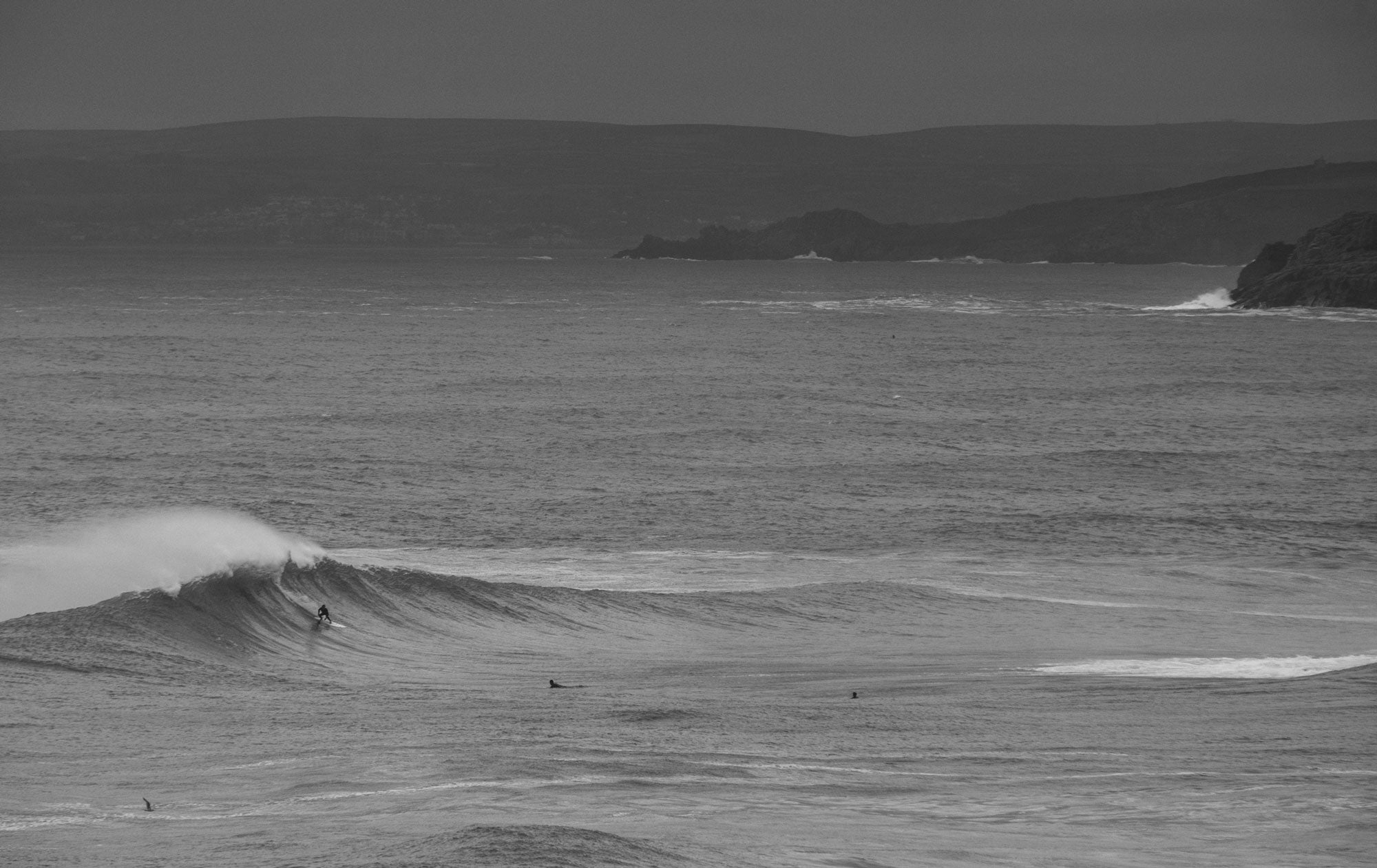 Mounts Bay looms in the background of the session - imagecredit JackJohns