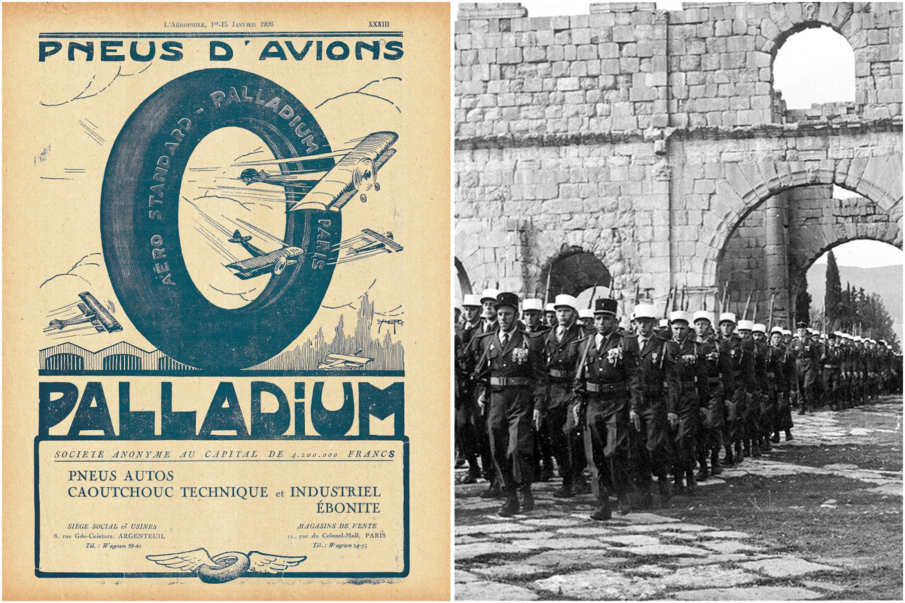 Palladium heritage - from aeroplane tyres to boots for the foreign legion