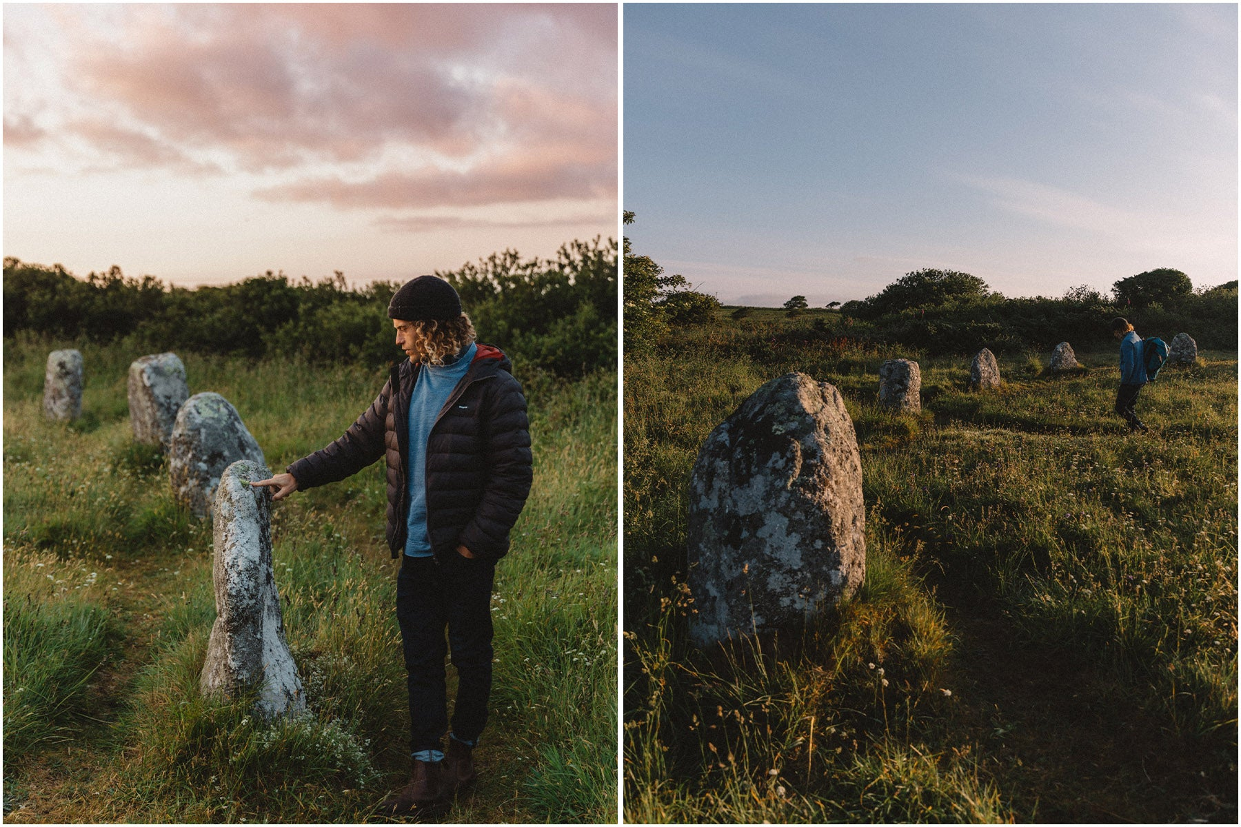 Pete Geall taking a moment to appreciate the ancient Boscawen-ûn stone circle