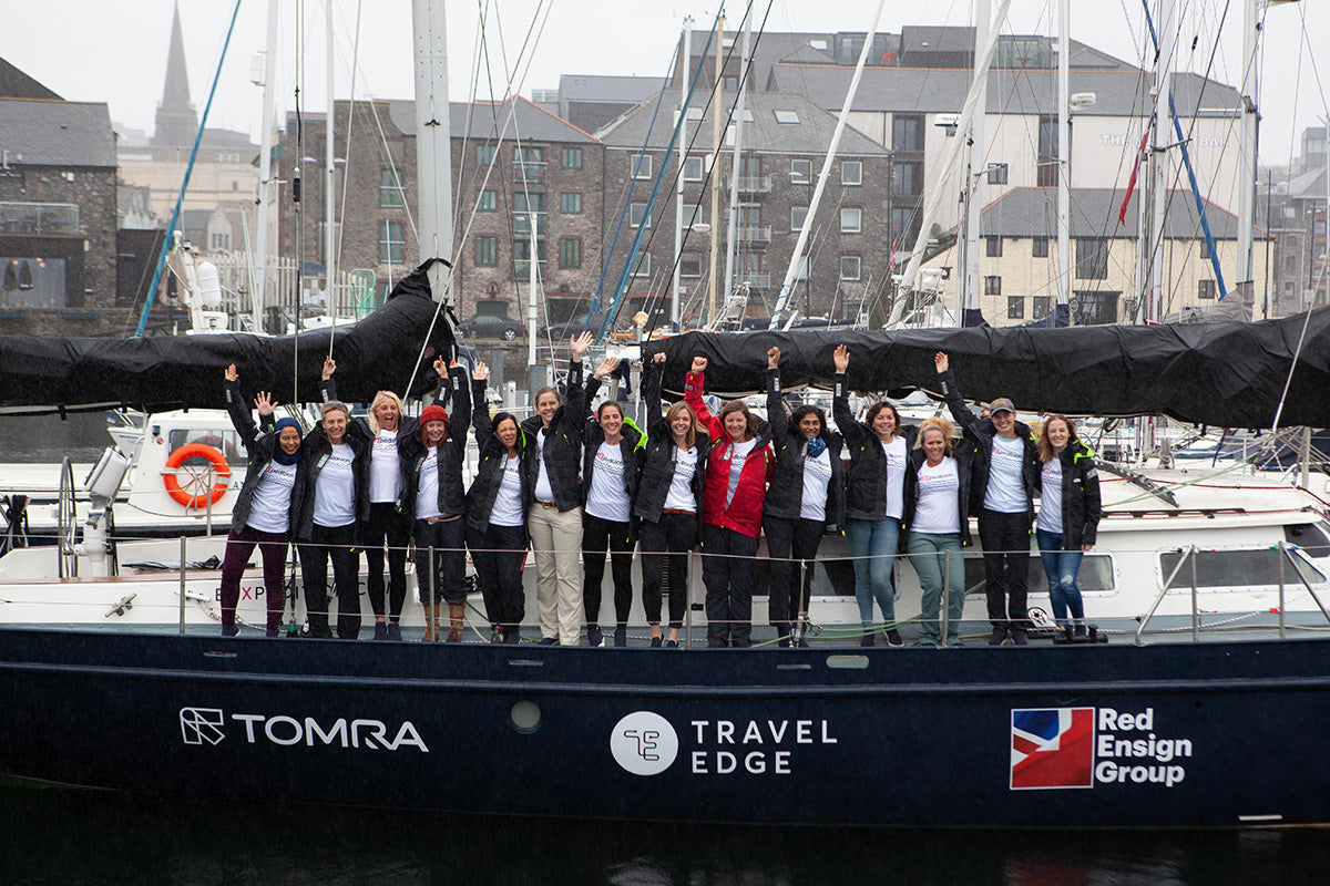 Finisterre Ambassador Emily Penn and the eXXpedition crew for the first leg of the journey.
