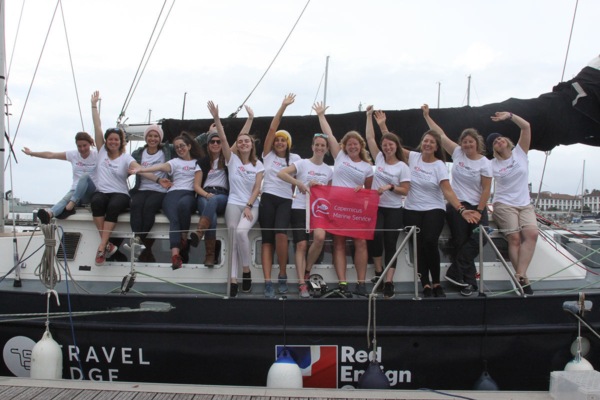 The eXXpedition crew setting out on Leg 2 of their Round the World journey