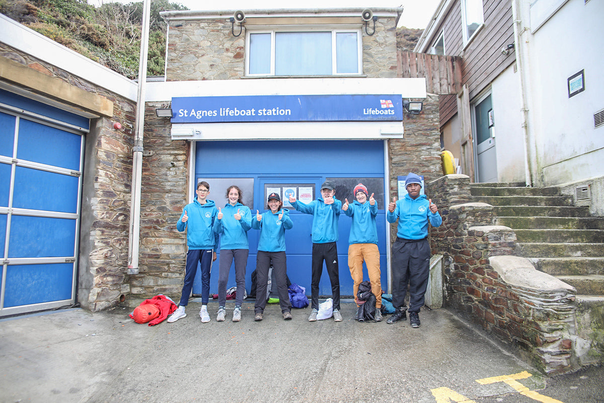 The Get Exploring Trust outside St Agnes Lifeboat station