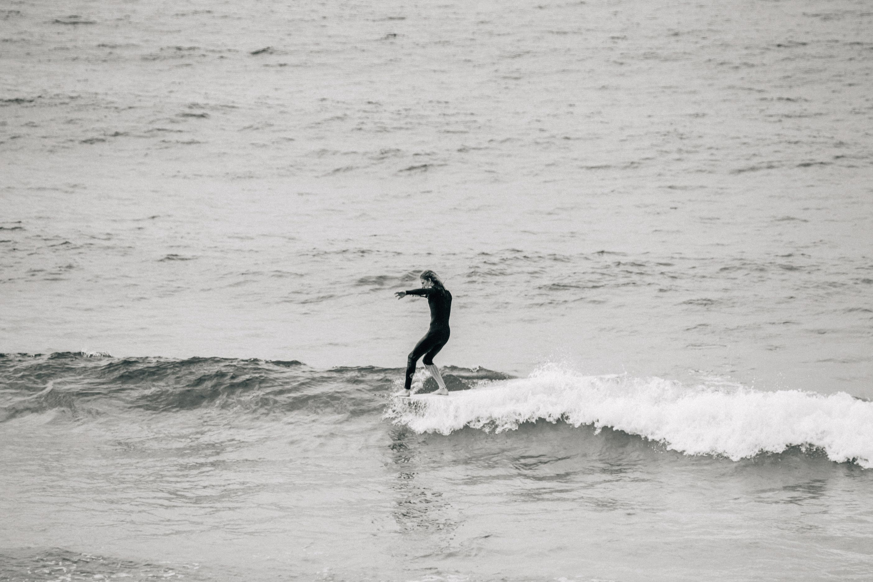 Vans + Finisterre editorial -  James Parry hangs five on a little knee-high peeler at Sennen