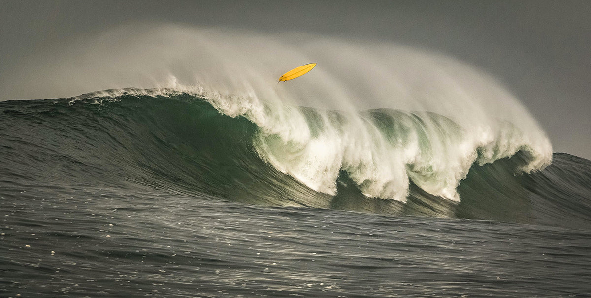 Unseen surfer engulfed by a 20ft wave in South Africa