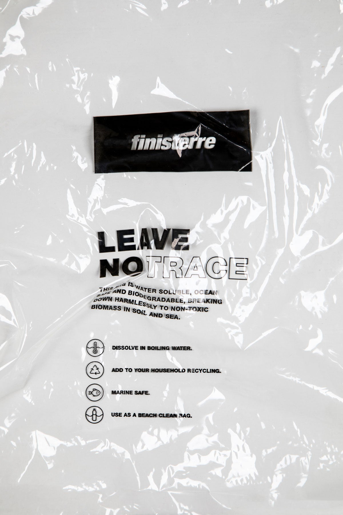 Leave No Trace Bag - Marine safe, degradable, recyclable.