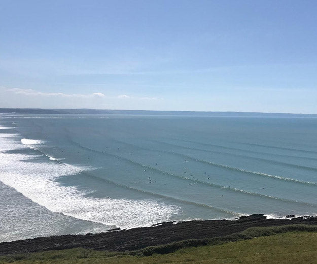 Clean lines of swell coming into North Devon beaches