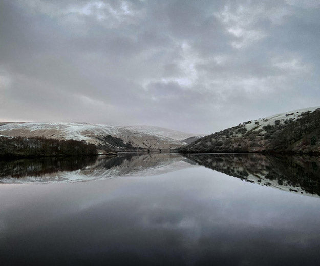 A lake on a winters day in Dartmoor national park