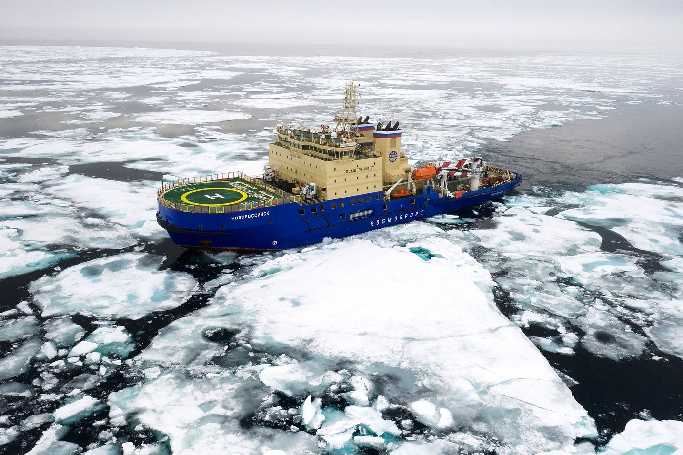 The Expedition Log with Lucia Griggi - The icebreaker forging the path ahead through the pack ice