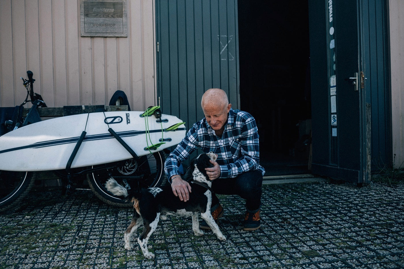 Tom is welcomed back to Finisterre HQ by his faithful hound Otis