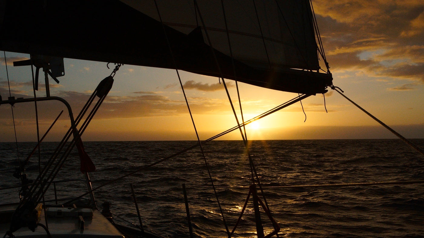 Sunset from the Captain's chair