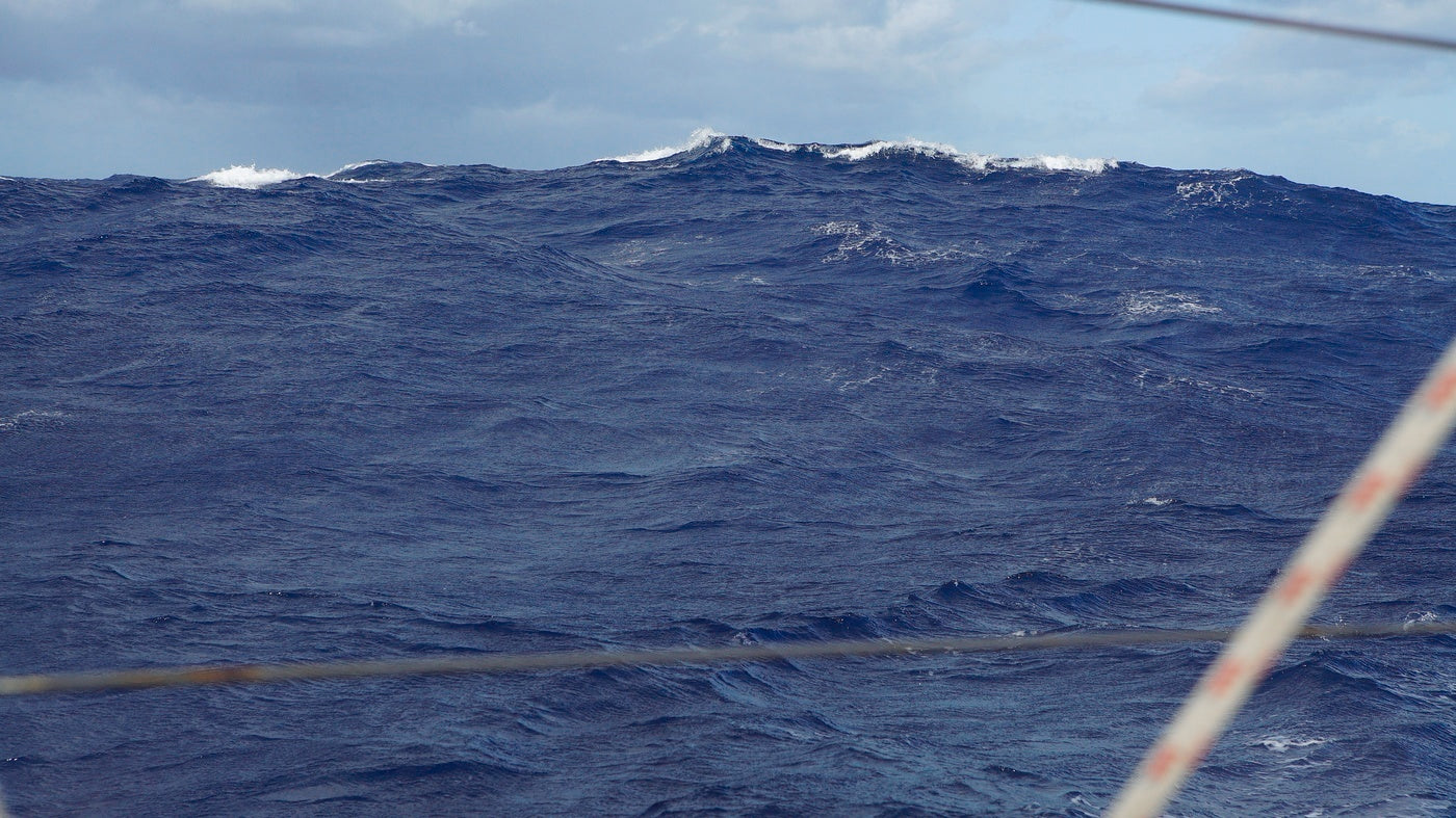 Rough water on the high seas