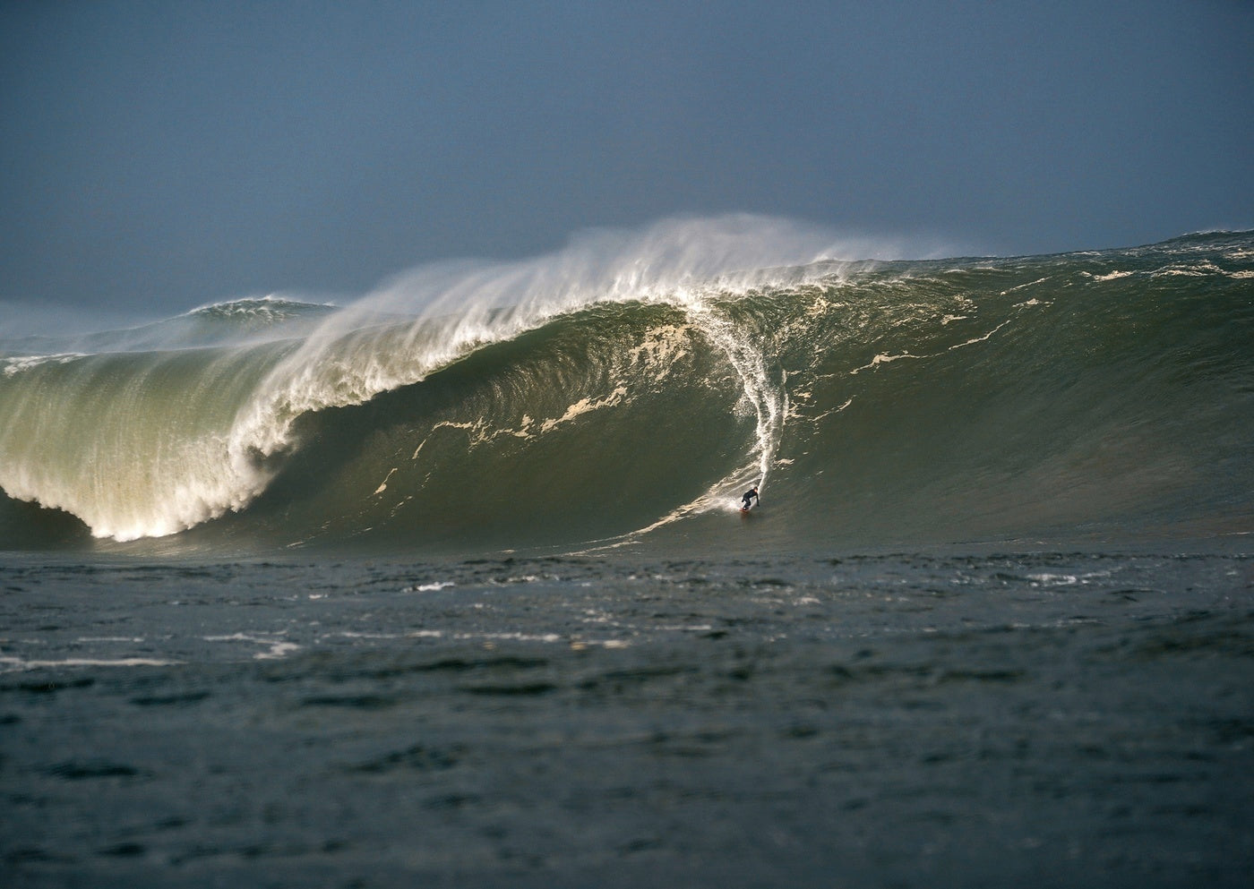 Conor Maguire's record breaking 60ft+ wave at Mullaghmore, captured by Gary McCall