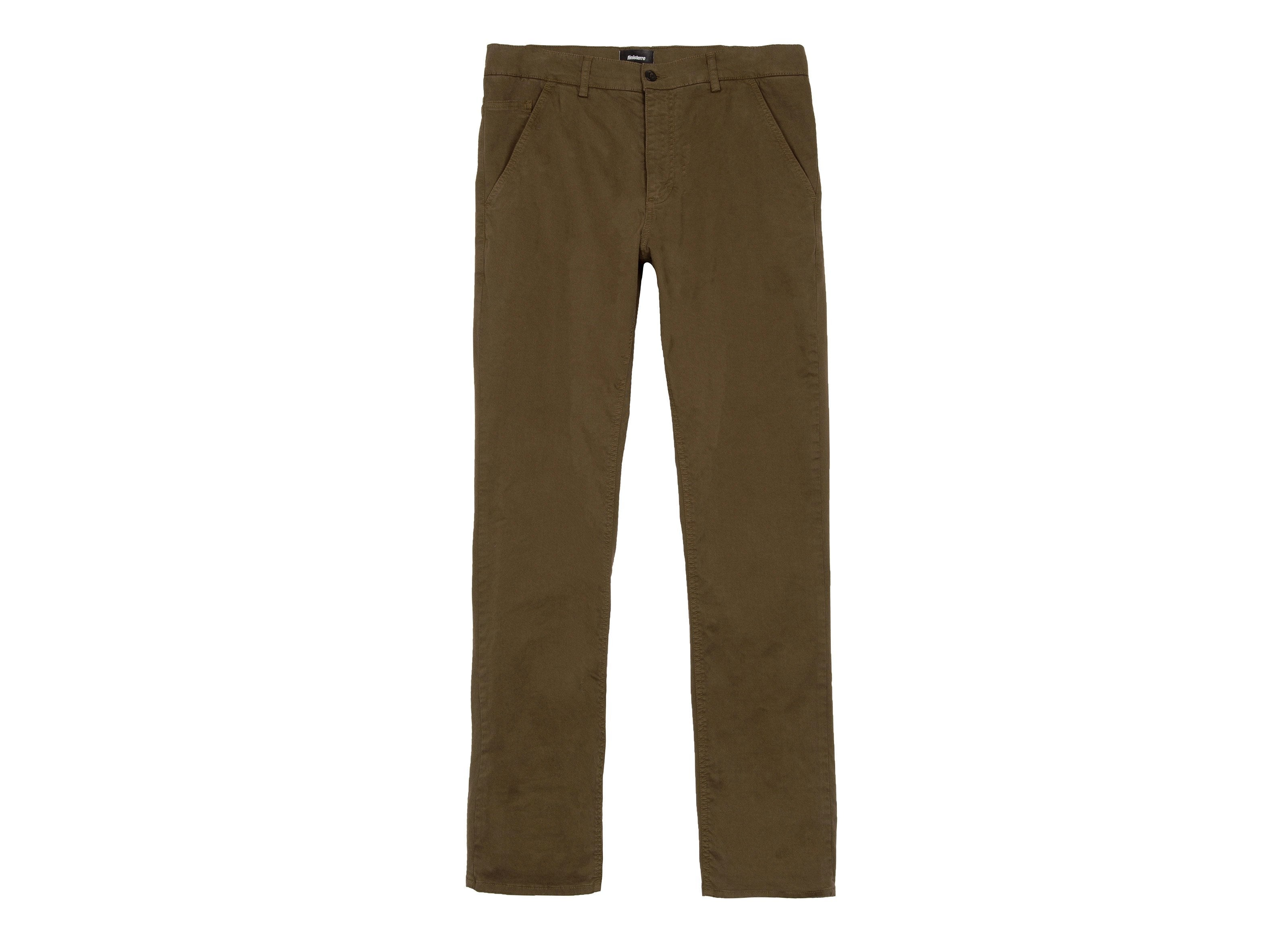 81190ca5ab43f Men s Koerner Lichen Green Organic Cotton Chino Trousers