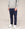 Front of mens navy slim fit organic cotton chino trousers from Finisterre