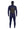 Front of mens navy, 5mm, hooded wetsuit by Finisterre