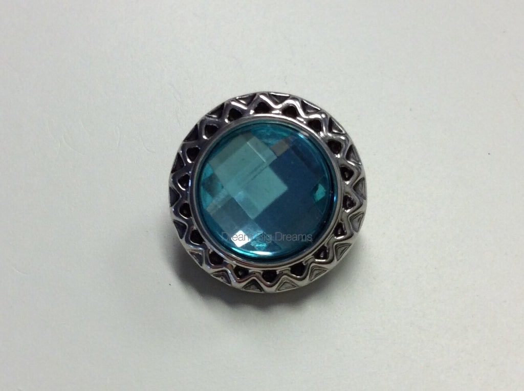 LILLY Blue Mini 12mm Snap Button