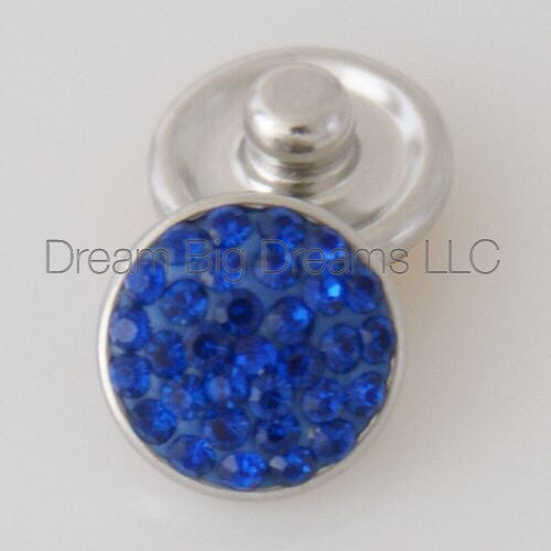 BREE Blue Glitz Crystal Mini 12mm Snap Button