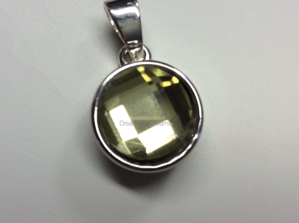 OLIVIA  Yellow Topaz Faceted Crystal Mini 12mm Snap Button