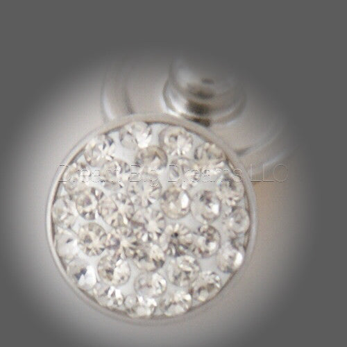 ALMA CLEAR Glitz Crystal Mini 12mm Snap Button