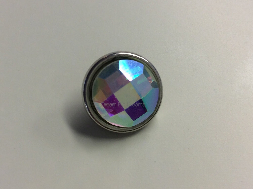 AMANDA Glitz Clear Faceted Crystal Mini 12mm Snap Button