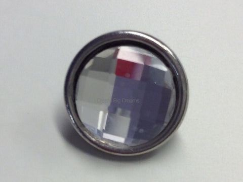 LAUREN April Faceted Crystal Mini 12mm Snap Button