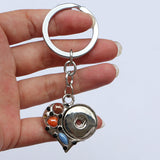 Heart Key Chain fits snaps 18-24mm