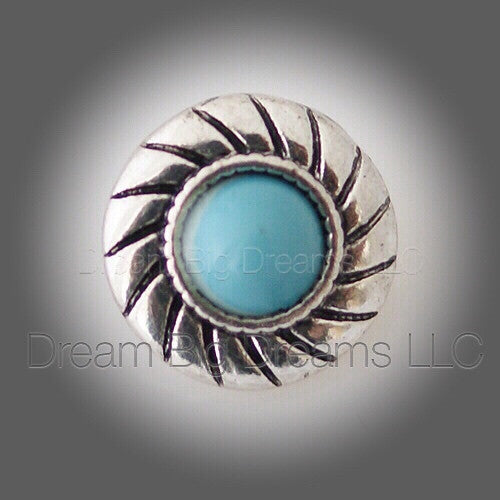 JAIDA Turquoise Mini 12mm Snap Button