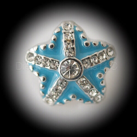 DANA Aqua Blue Star Mini 12mm Snap Button