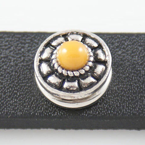 YULIANNA Yellow Stone Mini 12mm Snap Button