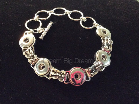 RHONDA 12mm 5 Snap Bracelet