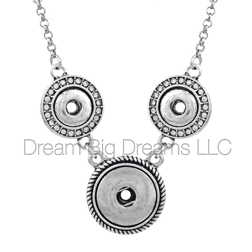 JACQUELINE Necklace 12mm & 18mm Rhinestones/Crystals