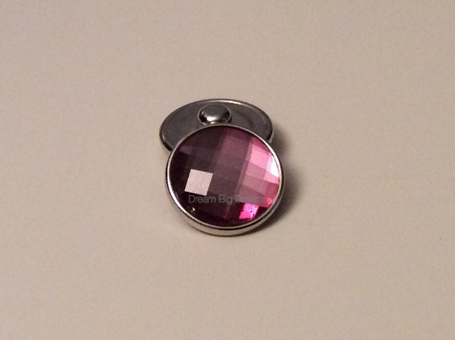 Crystal Amethyst PENNI ANN 18-24 mm Snap Button