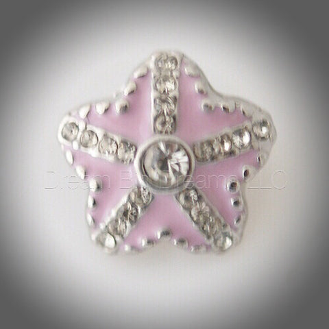 Lexie Pink Star Mini 12mm Snap Button