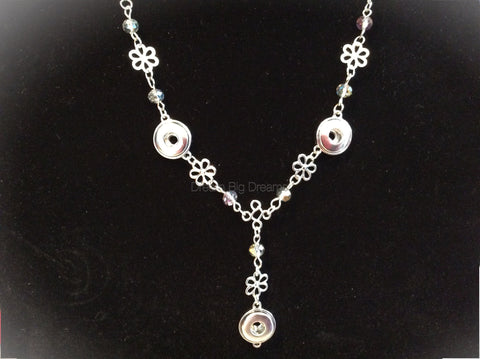 MAUREEN 12mm 3 Snap Necklace