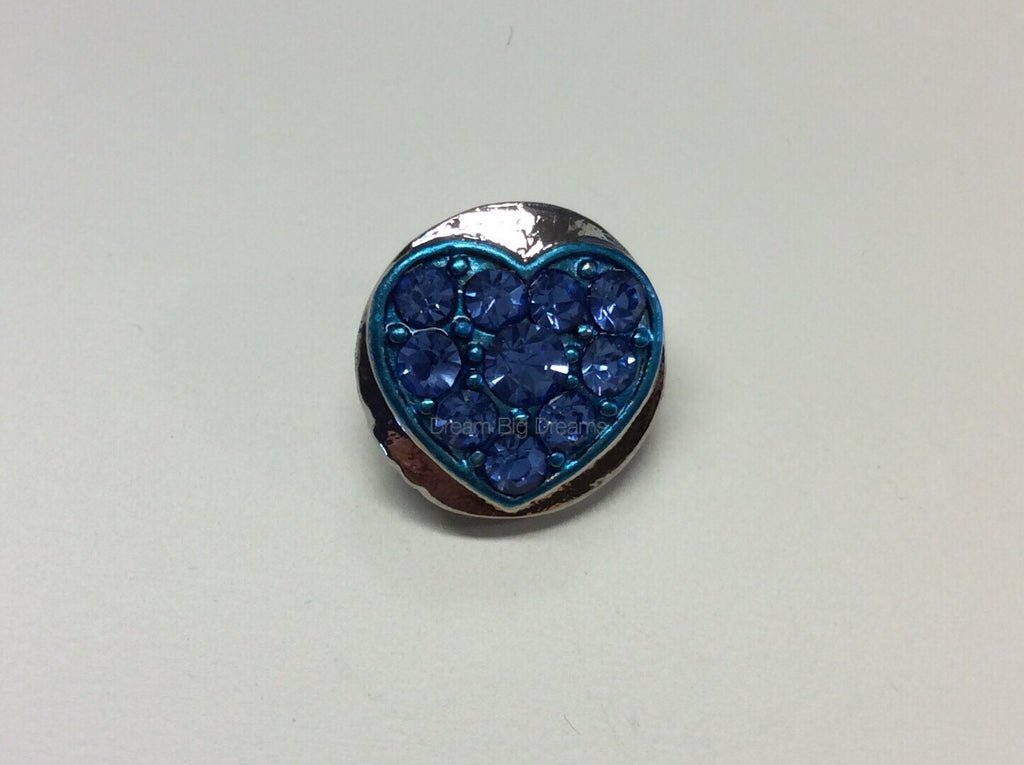 ABIGAIL Cluster Sky Blue Heart Mini 12mm Snap Button