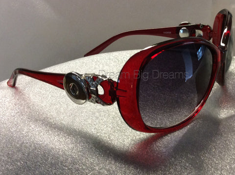 STARLA Red 2 Button Fashion Snap Sun Glasses