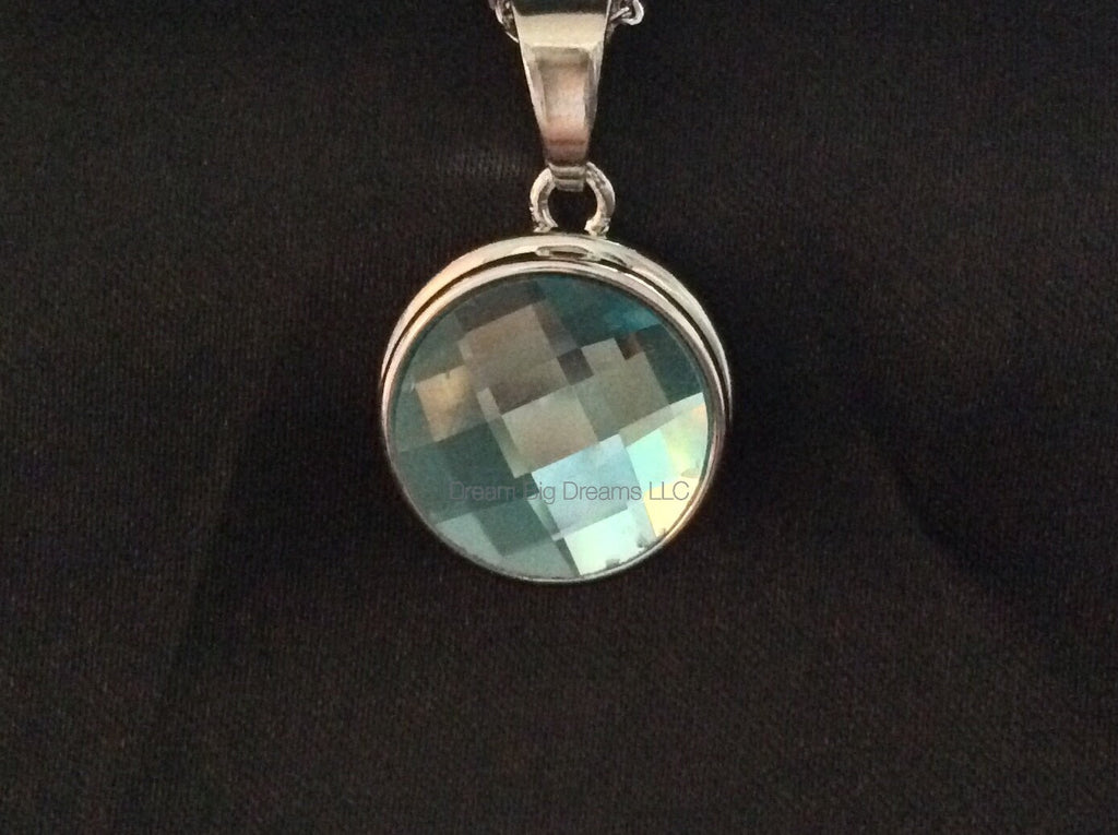Crystal Aquamarine KATIE 18-24 mm Snap Button